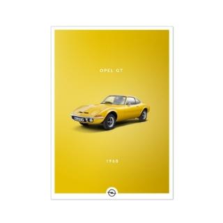 Immagine di Poster storico, Opel GT