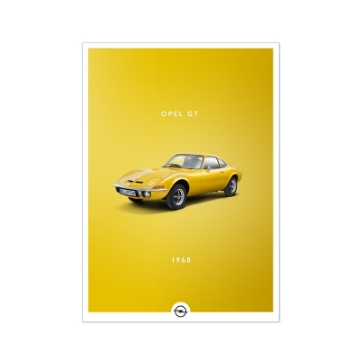 Picture of Poster Historic, Opel GT, DIN A2